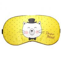 Маска для сна Fashion Eye Mask Do your Best желтая